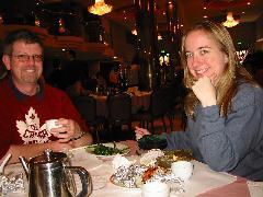 Bill and Rennie enjoying Dim Sum